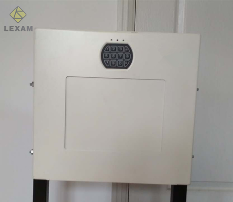 China White Powder Coated Keypad Wall Vault , Digital Hidden Wall Safe 4 AA Batteries distributor