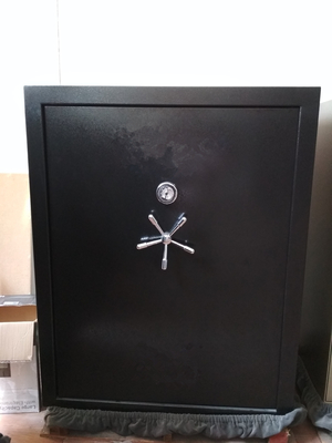"China Q235B Steel Fire Protection Safe Black Color 59""H*40""W*24""D For Gun Storage distributor"